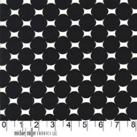 Tissu Atomic Dot Ebony x 10cm