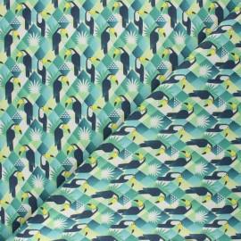 Tissu coton cretonne Tucano - vert x 10cm