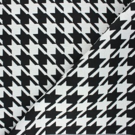 Jacquard fabric - white Tenby x 10cm
