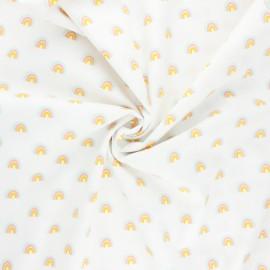 Tissu coton popeline Poppy Rainbow - blanc x 10cm