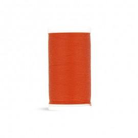 Fil à coudre Laser polyester - rouge orangé - 100m