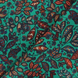 Cotton canvas fabric Thevenon - mint Rainbow tree petit x 10cm