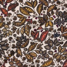 Cotton canvas fabric Thevenon - beige Rainbow tree petit x 10cm