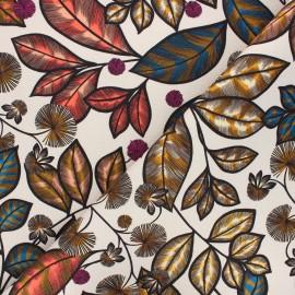 Cotton canvas fabric Thevenon - beige Rainbow tree grand x 50cm