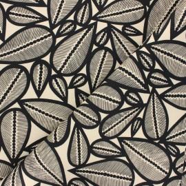 Tissu toile de coton Thevenon Lima - vanille x 50cm