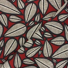Tissu toile de coton Thevenon Lima - bordeaux x 50cm