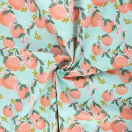 Tissu coton popeline Poppy Tasty fruit - céladon x 10cm