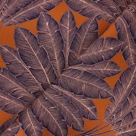 Cotton canvas fabric Thevenon - caramel Arbre voyageur x 50cm