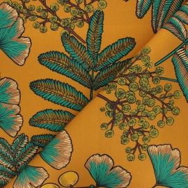 Tissu toile de coton Thevenon Victoria - ocre x 50cm