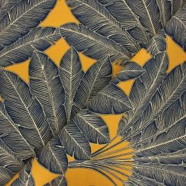 Cotton canvas fabric Thevenon - gold Arbre voyageur x 50cm