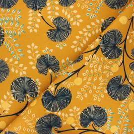 Cotton canvas fabric Thevenon - gold Pondichery x 50cm