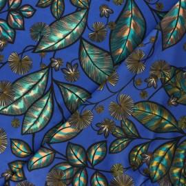 Tissu velours ras Thevenon Rainbow tree grand - bleu roi x 50cm