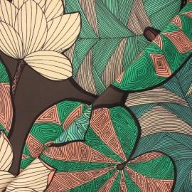 Tissu velours ras Thevenon Idris - chocolat x 50cm