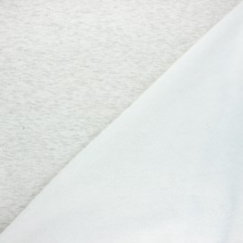 Plain sweatshirt with minkee fabric - mottled raw x 10cm