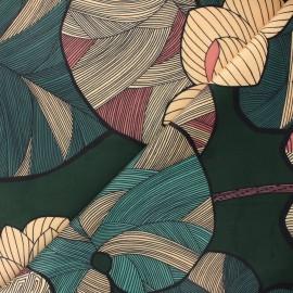Tissu velours ras Thevenon Idris - vert sapin x 50cm