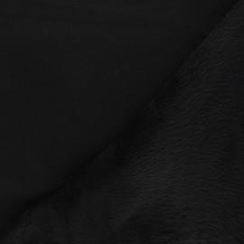 Plain sweatshirt with minkee fabric - black x 10cm