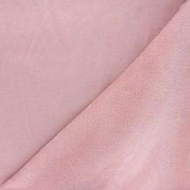 Tissu sweat envers minkee uni - eau de rose x 10cm