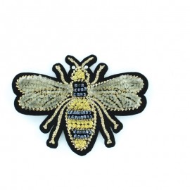 Cherry blossom iron on patch - blue