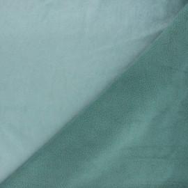 Tissu sweat envers minkee uni - sarcelle x 10cm