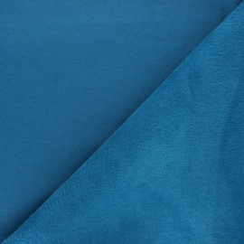 Plain sweatshirt with minkee fabric - duck blue x 10cm