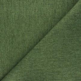 Tissu natté Thevenon Bellini - vert mousse x 10cm