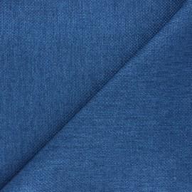 Tissu natté Thevenon Bellini - bleu jean x 10cm