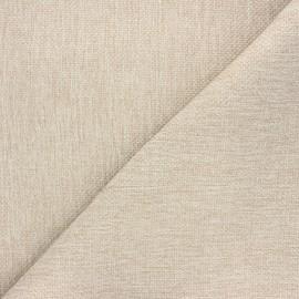 Tissu natté Thevenon Bellini - grège x 10cm