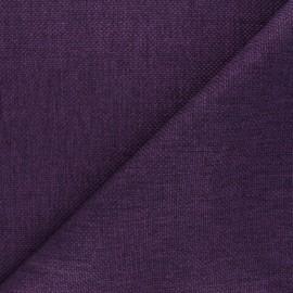 Tissu natté Thevenon Bellini - prune x 10cm