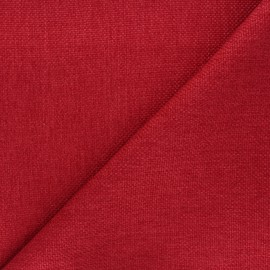 Tissu natté Thevenon Bellini - rouge x 10cm