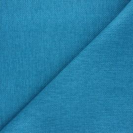 Tissu natté Thevenon Bellini - bleu des îles x 10cm