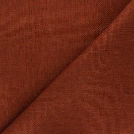 Tissu natté Thevenon Bellini - terracotta x 10cm
