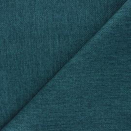 Tissu natté Thevenon Bellini - bleu canard x 10cm