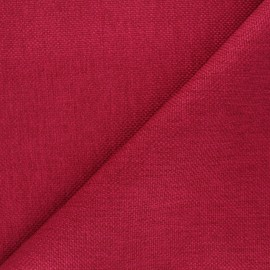 Tissu natté Thevenon Bellini - framboise x 10cm