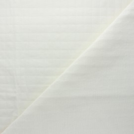 France Duval quilted cotton fabric - off-white Tayio x 10cm