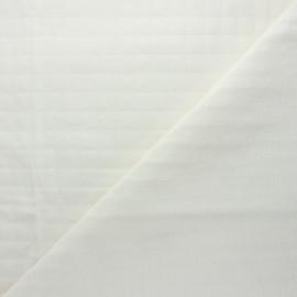 Tissu coton matelassé France Duval Tayio - écru x 10cm