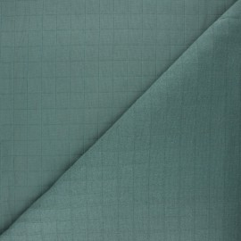France Duval quilted cotton fabric - eucalyptus Tayio x 10cm