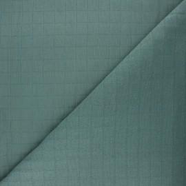 Tissu coton matelassé France Duval Tayio - eucalyptus x 10cm