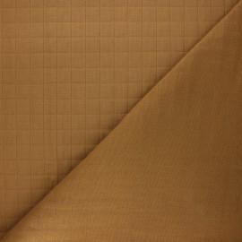 Tissu coton matelassé France Duval Tayio - camel x 10cm