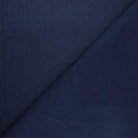 Tissu coton matelassé France Duval Tayio - bleu marine x 10cm