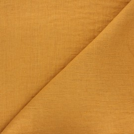 Thevenon washed linen fabric - ochre x 10cm