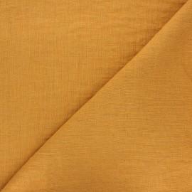 Tissu lin lavé Thevenon - ocre x 10cm