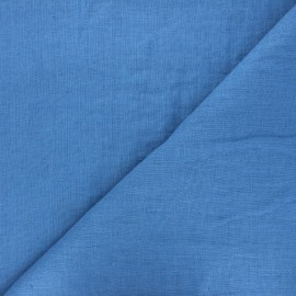 Thevenon washed linen fabric - stone blue x 10cm