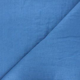 Tissu lin lavé Thevenon - bleu stone x 10cm