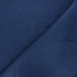 Thevenon washed linen fabric - night blue x 10cm