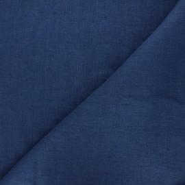 Tissu lin lavé Thevenon - bleu nuit x 10cm