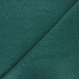 Thevenon washed linen fabric - emerald green x 10cm