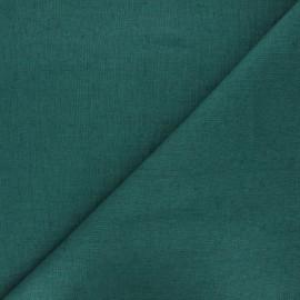 Tissu lin lavé Thevenon - vert émeraude x 10cm