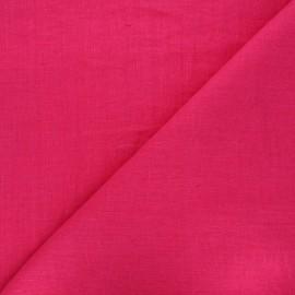 Tissu lin lavé Thevenon - fuchsia  x 10cm