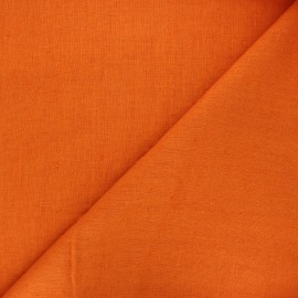 Tissu lin lavé Thevenon - orange x 10cm