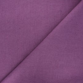 Thevenon washed linen fabric - grape x 10cm